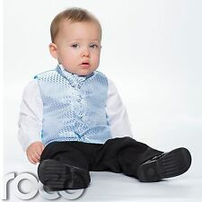 Baby Boys Blue & Black Suit, Page Boy Suits, Boys Wedding Suits, Boys Suits