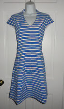 NWT LILLY PULITZER BAY BLUE OTTOMAN STRIPE BREE DRESS M L XL