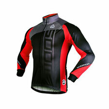 Sobike Cycling Fleece Thermal Jacket Long Jersey Long Sleeves-Michael Red New