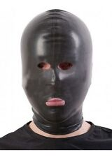 Black Latex Hood/Mask OPEN, EYES, NOSE, MOUTH / Made in UK / 109a