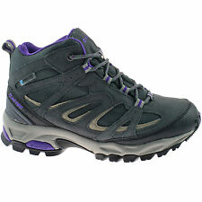 LADIES HI-TEC WATERPROOF HIKING BOOTS SIZE UK 4 - 8 SUEDE GREY FUSION SPORT MID