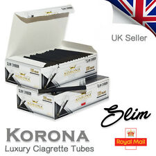 KORONA SLIM BLACK CARBON EMPTY CIGARETTE TUBES - SAVE UP TO 30% ON TOBACCO