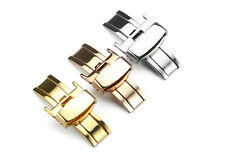 12 14 16 18 20 22mm Double Push Deployant Buckle Stainless Steel Polished Clasp