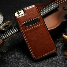 Glossy Rubber TPU Leather Case Card Holder Back Cover For Apple iPhone 6 6S Plus