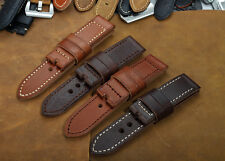 24mm Genuine Calf Leather Smooth Vintage Watch Band Strap fit Panerai Luminor