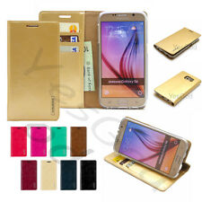 Stand Slim Flip Leather Wallet Case Cover Transparent Gel For iPhone Galaxy LG