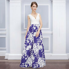 Ever Pretty Sexy Deep V-neck Long Party Prom Eeening Formal Dress 08389
