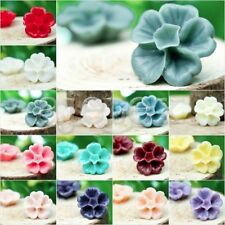Vintage Style Colorful Flower Cameo Resin Cabochons fit Cabochon Setting 13x13mm