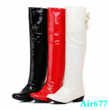 Stylish Womens Knee High Heels Boots Lace Ups Wedge Platform Shoes US Size 0258