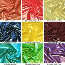 "METALLIC SHINY VINYL PLEATHER STRETCH GOTH FETISH FABRIC CATSUIT WATERPROOF 54""W"
