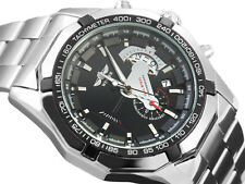 Automatic Mechanical Luxury Mens White Date Stainless Steel Analog Sport Watch