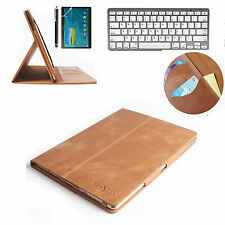 Keyboard + Magnet Real Genuine Leather  Case Cover For Apple iPad Air 2 Ipad 6th