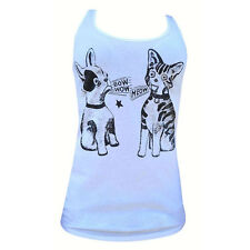 Bow Wow Meow Annex Apparel Clothing Women's Racer Back Tank Top Shirt Cat Dog