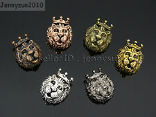King Crown Lion Head Bracelet Necklace Connector Charm Beads Metal Findings