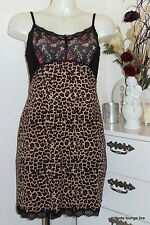Vive Maria Nightdress Night Gown Negligee Cat Lace Pajamas Dress Leopard Flowers