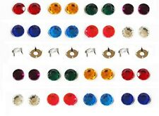 RHINESTONE GEMS Acrylic WITH prong SETTINGS * 8 JEWEL colors* 4.5mm 6mm 8mm 10mm