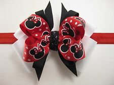 Girls Christmas Valentines Day Theme Character Hair Bow Clip Barrette Headband