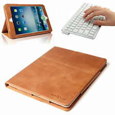 Bluetooth Keyboard+Smart Real Genuine Leather  Case Cover For iPad 4th 3rd 2nd