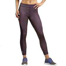 Reebok Playdry Womens Running Gym Fitness Training Cropped Dot Tights