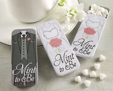 24 Mint to Be Heart Mints Bride Groom Tins Wedding Favors
