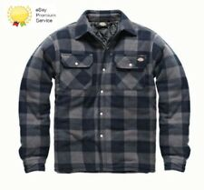MENS DICKIES PORTLAND WORKWEAR PADDED WORK CASUAL SHIRT SH5000 NAVY SIZE S-XXXL