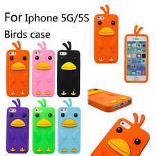 3D Cute Animal Cartoon Bird Soft Silicone Case Cover Skin For Apple iPhone 5 5s