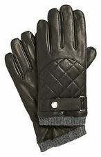 Ralph Lauren Polo Black Quilted Leather Thinsulate Touch Gloves New
