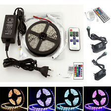 5M 300LED SMD 3528/5050/5630 RGB/White/Warm Flexible Strip Light+Remote+Power