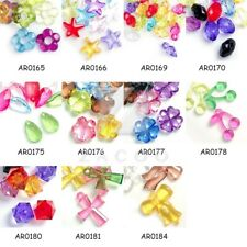 New Style Mixed Acrylic Beads Round Bicone Assorted Transparent Jewelry Findings
