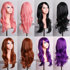 Heat Resist 70cm Long Cosplay Party Wig Fashion Curly Wave Weave Hair Full Wigs