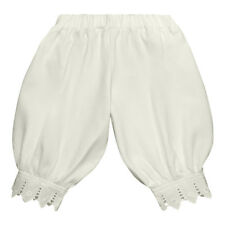 Victorian Pantaloon Organic Cotton Baby Gift White Lace Retro Style Long Pants