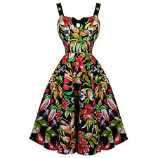 Hearts & Roses London Lush Lily Floral Retro Vintage 1950s Party Pinup Dress