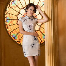 Charming Chinese women's mini dress evening dress Qipao Cheongsam size S--XXL