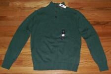 NEW NWT Mens GAP 3-Button Neppy Mock Turtleneck Sweater Balsam Tree Green *1A