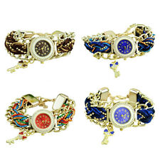 Women Braid Dress Quartz Watches Stylish Crystal Diamond Bracelet Watches GIFT