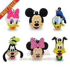 Novelty 40PCS Mickey Minnie Keychains Necklaces Pendants,Cellphone Charms Gifts