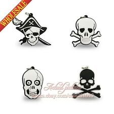 40PCS Skull DIY Keychains Necklaces Pendants,Cellphone Charms Accessories Gifts