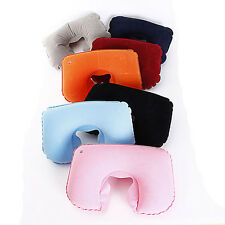 Travel Neck U Shape Air Inflatable Pillow Support Head Rest Air Blow Up Cushion
