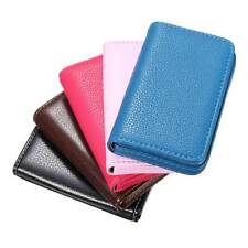 Mini Short Leather Business Credit ID Card Holder Wallet Storage Pocket Case
