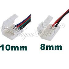 8/10mm 2PIN/4PIN Connector Adapter PCB For 3528/5050 Single Color RGB LED Strip