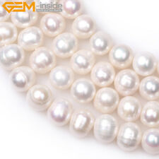 """Round 8-9mm Freshwater Pearl DIY Jewelry Making GEM Beads 15"""" 9 Colors Select"""