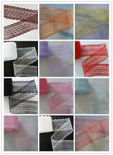 Wholesale 10-100yards embroidery lace ribbon colors can be selected 15Color
