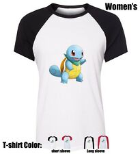 Cute Pokemon Squirtle Design Cotton Shirt Ladys Girl's Graphic T-Shirt Tops