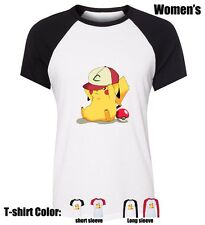 Pikachu hat play Novetly Pattern Girl's Ladys Cotton T-shirt Graphic Tee Tops