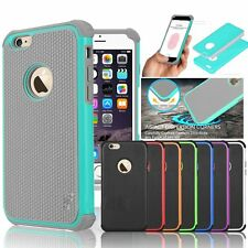 Rugged Rubber Matte Hard Shockproof Case Cover Shell for iPhone 6s 4.7&6 Plus 5s
