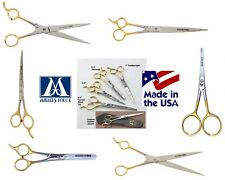 MILLERS FORGE GOLD Ice Tempered Stainless Steel SHEARS Scissor&Case Pet Grooming