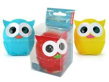 Kikkerland Owl Timer Kitchen Owlet 60 Minute Cooking Mechanical Blue Red Yellow