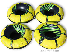 4 pack Intex River Rat Lounge Tube with HEAVY DUTY Yellow Cover Run Float