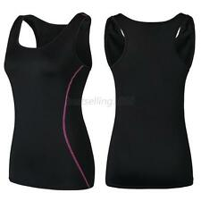 Woman Sweatshirt Workout Fitness Sport Tops Running Yoga Shirt Vest Tank Top B34