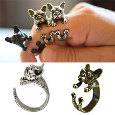 Vitage New French Bulldog Animal Rings Gift Unisex Fashion Jewelry Top Quality G